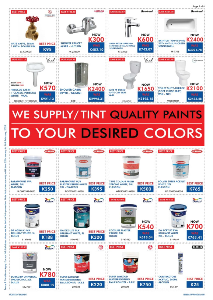 Best deals on paints