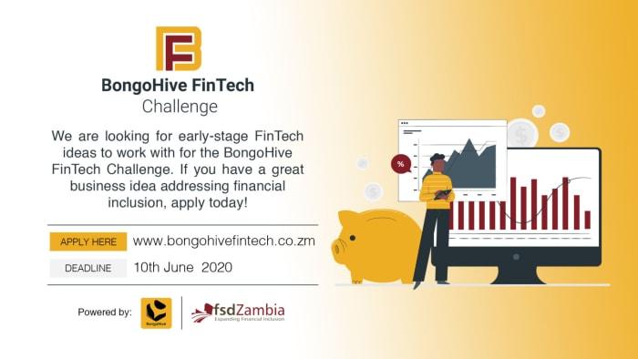 BongoHive and FSD Zambia Launch BongoHive Fintech Challenge