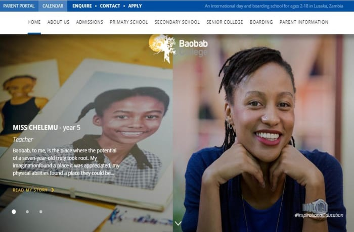 New Baobab College website launched