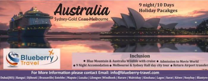 9 Night / 10 days holiday packages - Australia Sydney - Gold Coast Melbourne