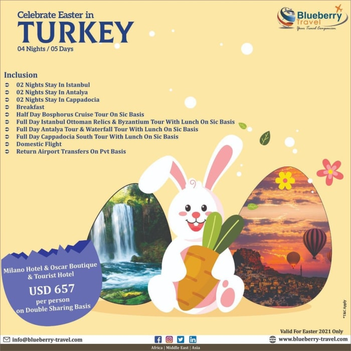 Celebrate Easter in Turkey 4 nights / 5 days
