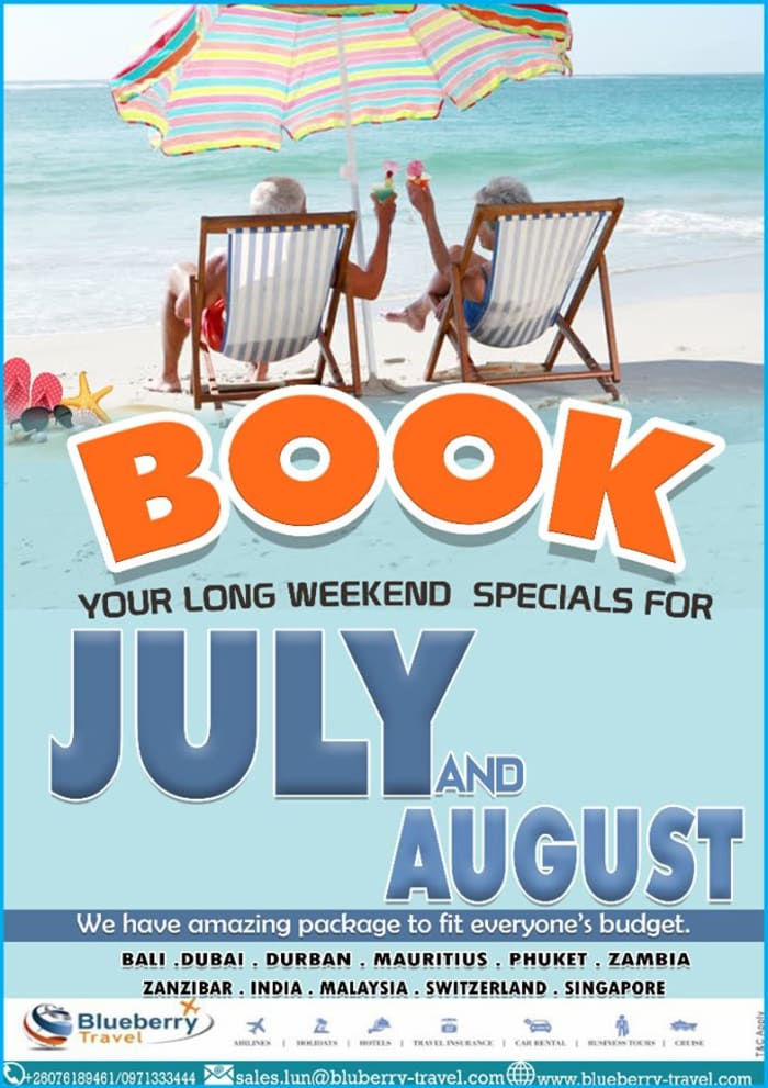 Book your long weekend special for July and August