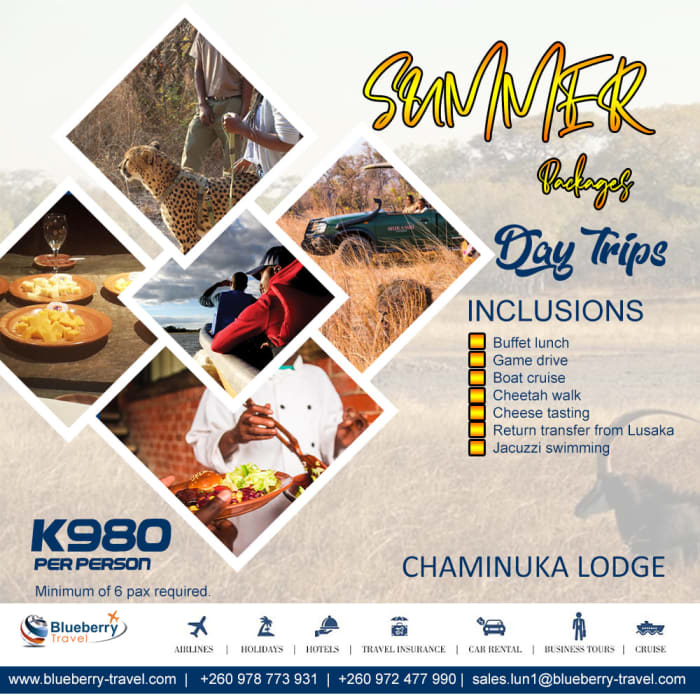 Summer Package - Day trip  Chaminuka Lodge