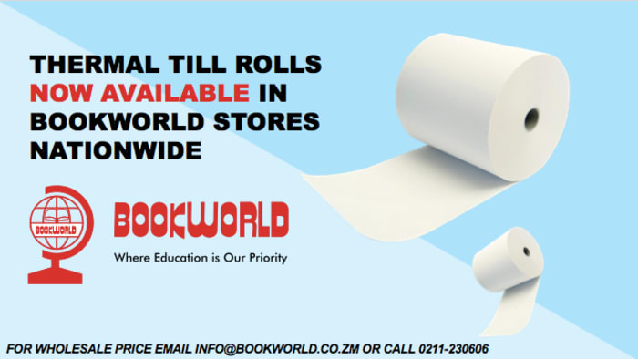 Thermal till rolls are now available in Bookworld stores