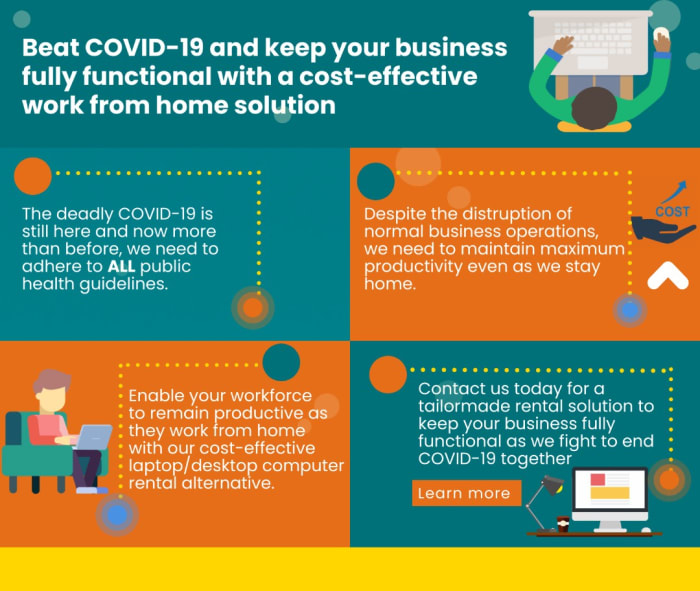 Beat Covid -19 and keep your business fully functional with a cost - effective work from home solution
