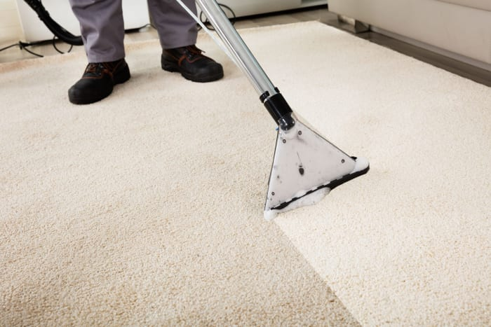 Wet and steam carpet cleaning