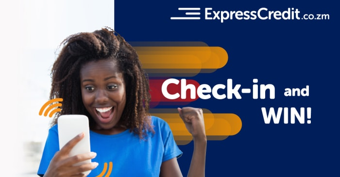 Check in and win - ExpressCredit.co.zm are giving smartphones away!