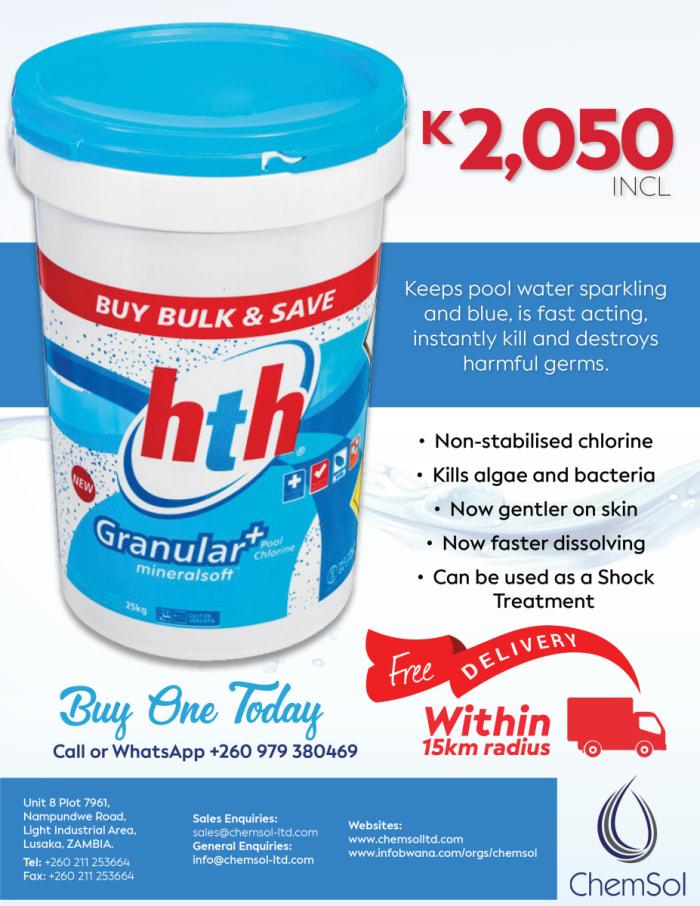 Special offer on HTH Granular Chlorine 25kg
