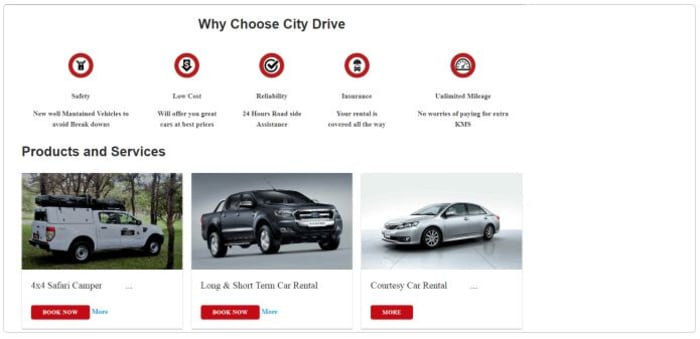 Get car rental quotes and make payments online