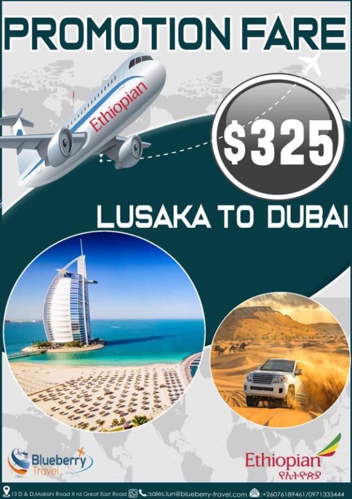 Promotion fare - Lusaka to Dubai