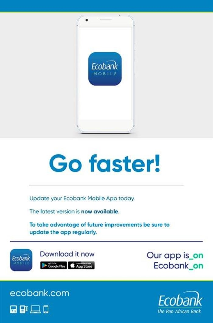 Ecobank app now available
