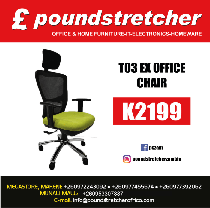 T03 Ex Office Chair on special offer