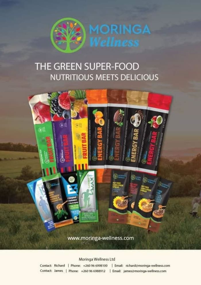 Moringa Wellness energy and fruit bars available at Fig Tree Cafe