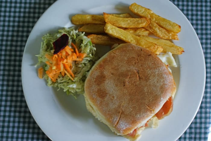 Try Fig Tree Café 's delicious home-made burger buns