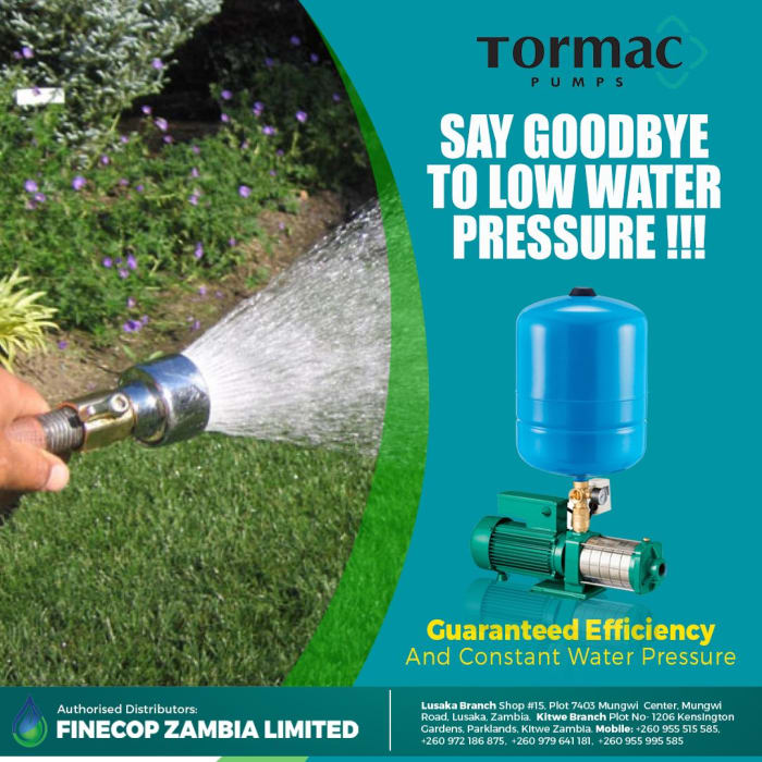 Say Goodbye to low water pressure