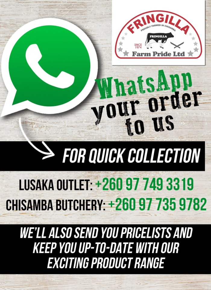 You can now WhatsApp your order for fresh supplies of meat, greens and other produce
