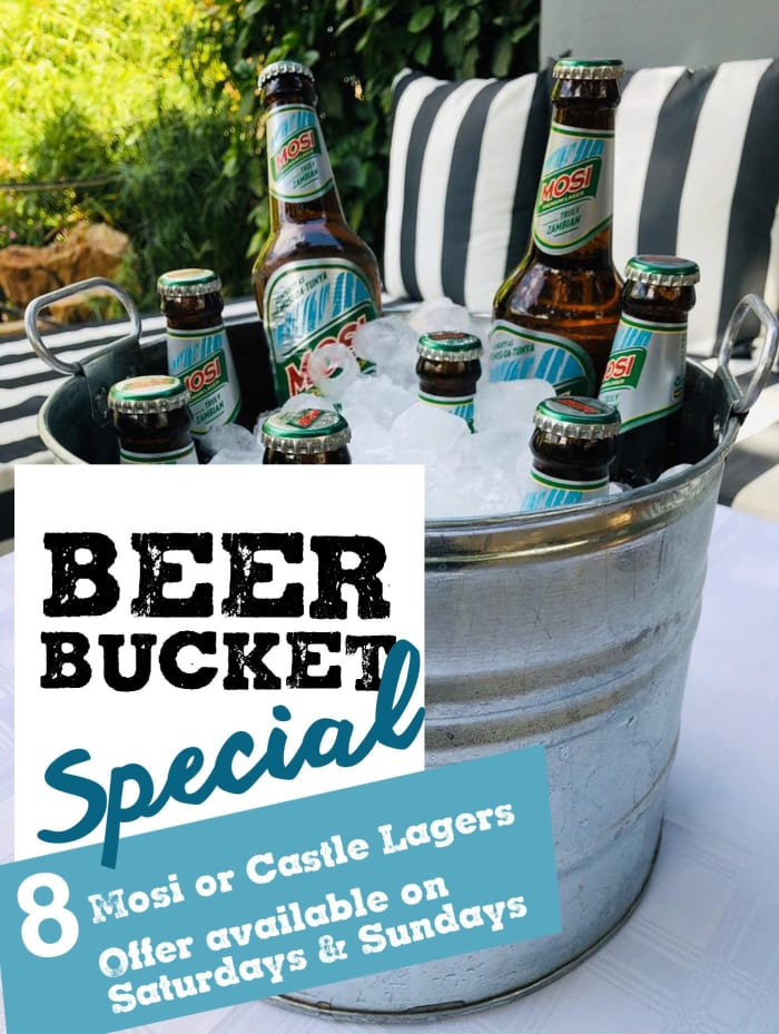 Beer Bucket special at Fringilla Lodge