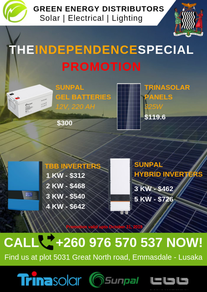Discounted solar panels, batteries and inverter
