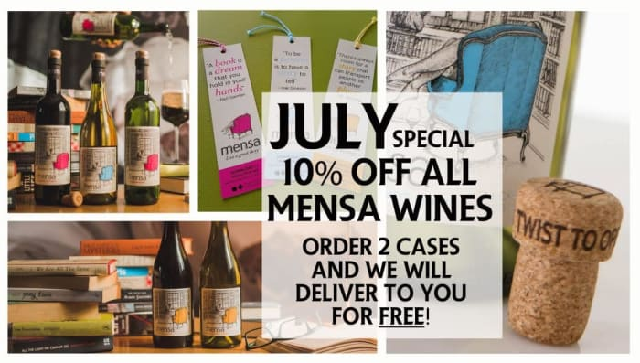 July special - 10% off Mensa wines