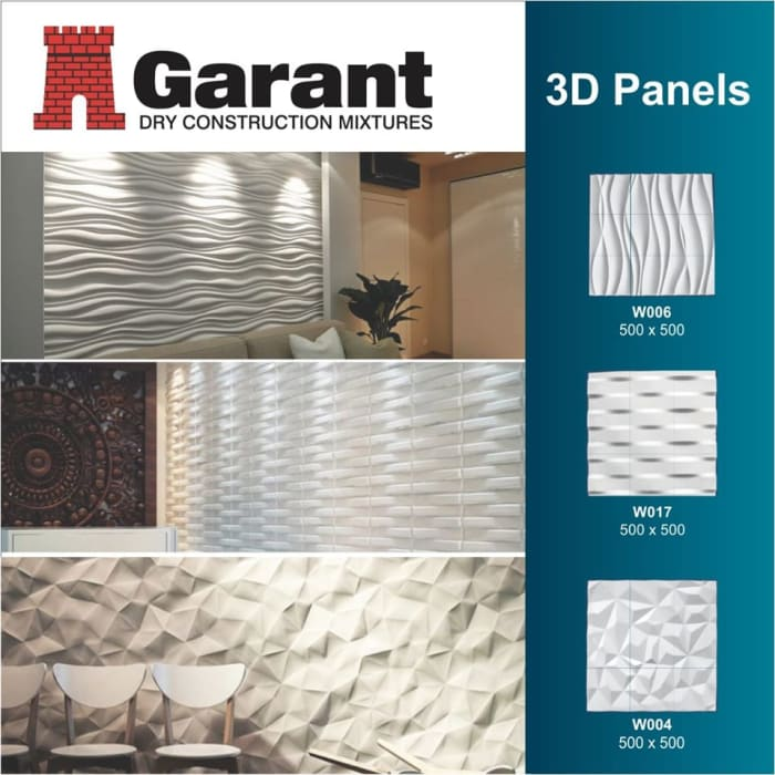 Refurbish your wall for a modern appeal with 3D panels