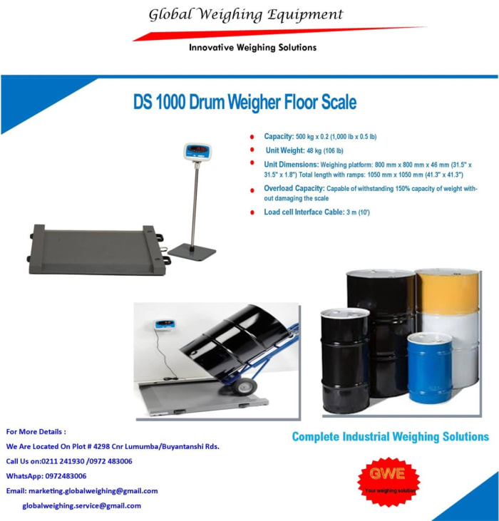 DS 1000 Drum Weigher Floor Scale now available