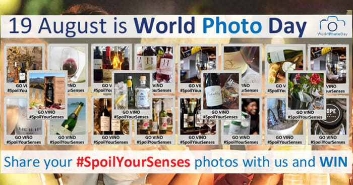World Photo Day - Spoil Your Senses with wine from Go Vino and win!