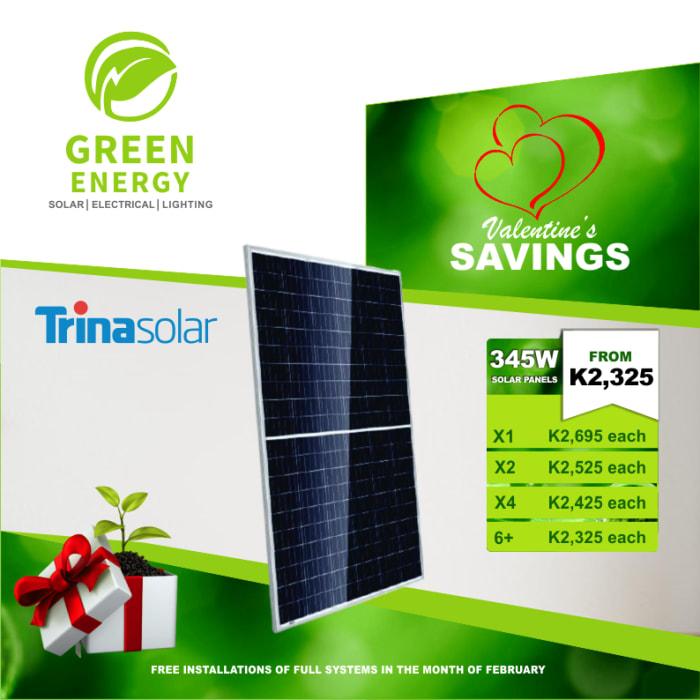 Enjoy great savings on TrinaSolar 345w Solar Panels