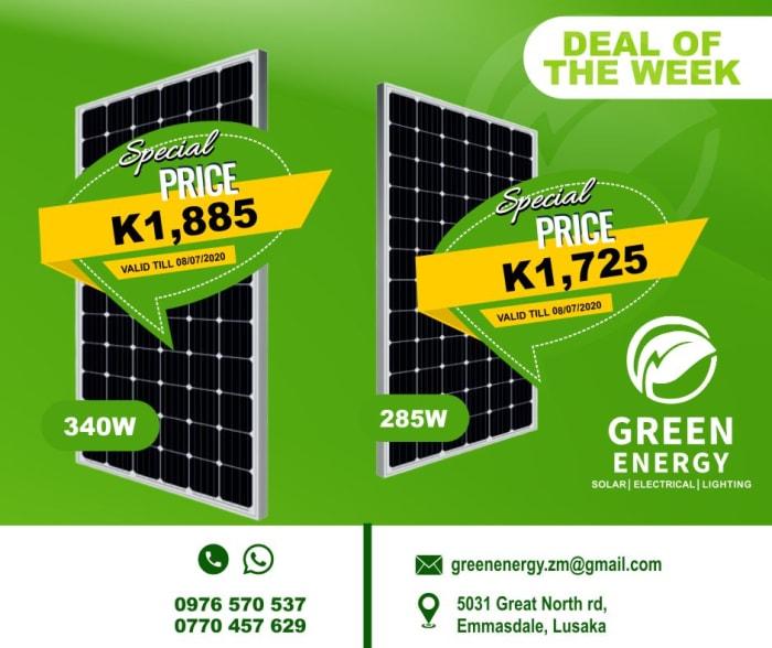 Enjoy great savings on 285W and 340W solar panels