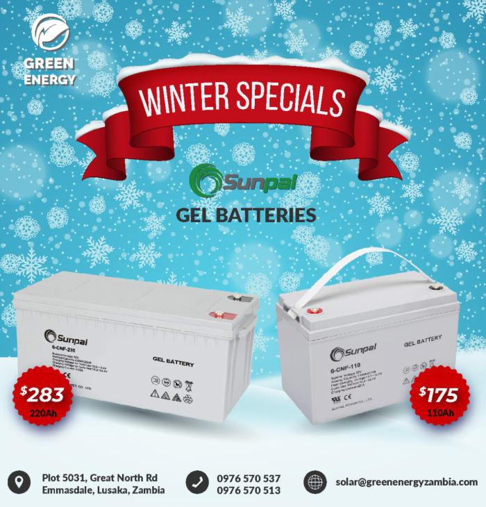 Sunpal Gel Batteries on special offer