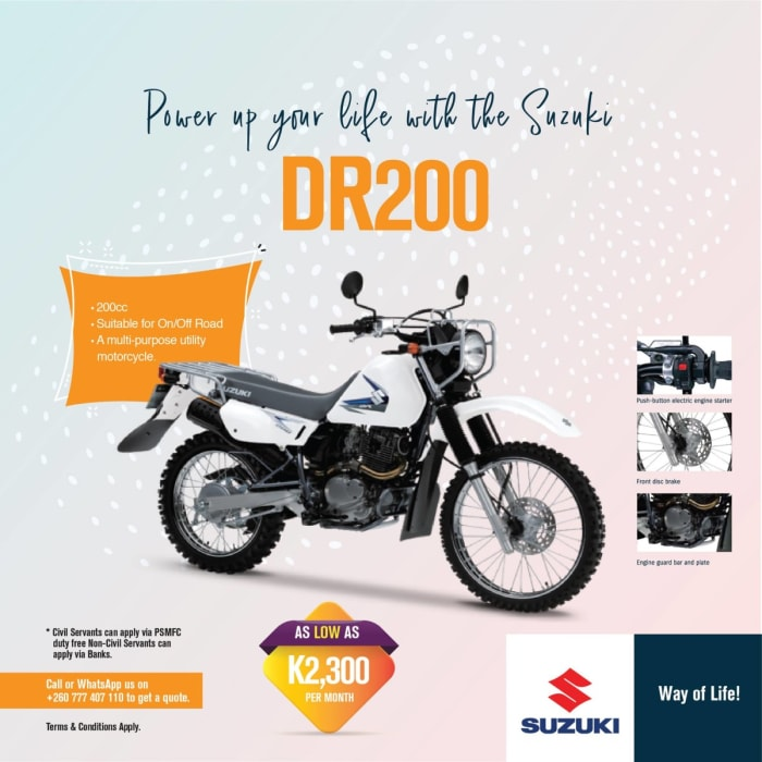 Power up your life with the Suzuki DR200