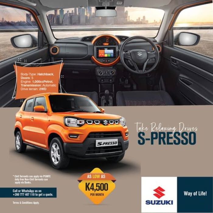 Take relaxing drives in the S-Presso