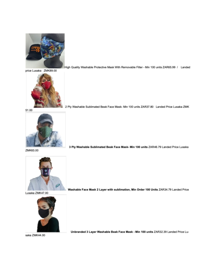 High quality washable and reusable protective masks on sale
