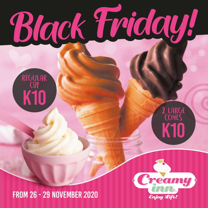 Make a loved one's day with two large cones at K10 or one regular cup at K10