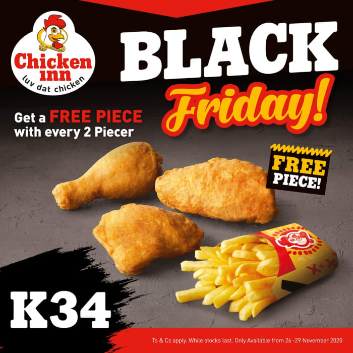 Black Friday deals - Get 3 pieces for the price of 2 at Chicken Inn