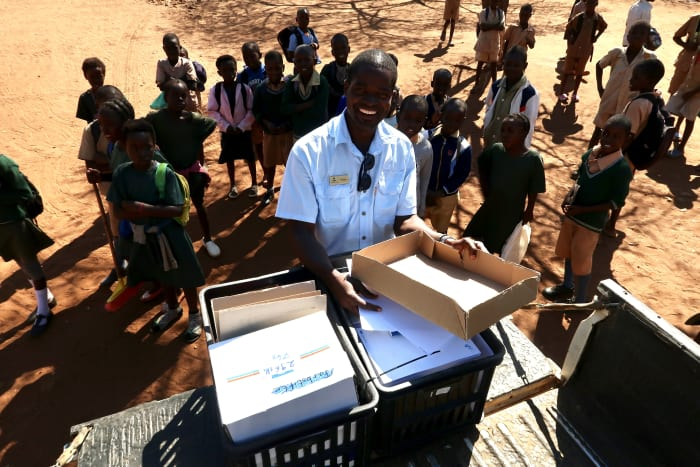 160 Kg's of school supplies donated in the Lower Zambezi community - from the Swissrail Industry Association