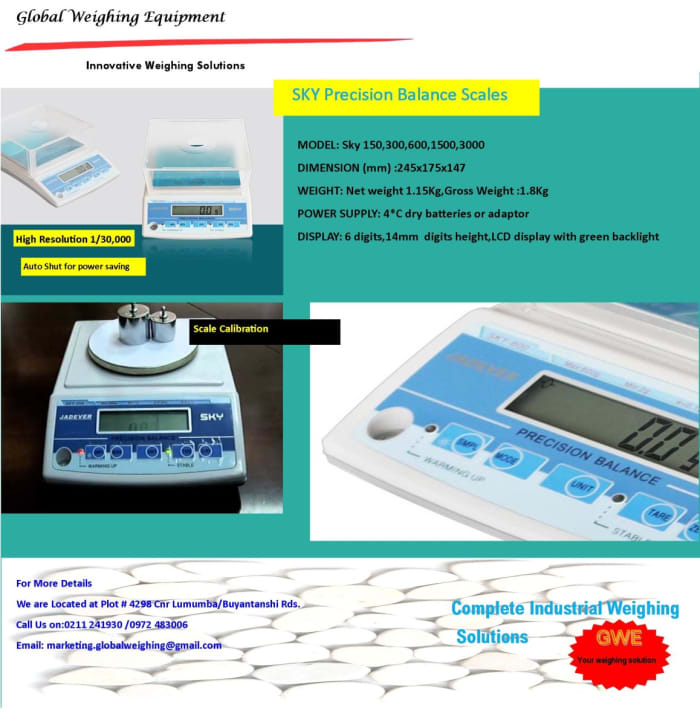 """For complete weighing solutions"""" think Global weighing!"""