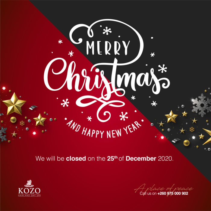 Christmas wishes from Kozo Salon and Day Spa