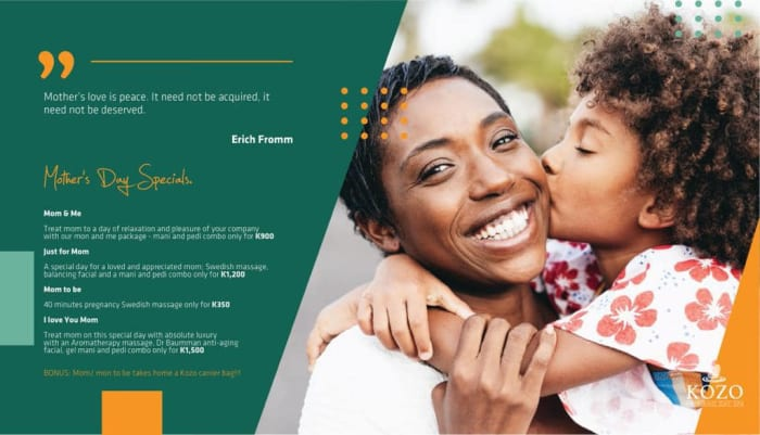 Join kozo Salon and Day Spa in celebrating Mother's Day