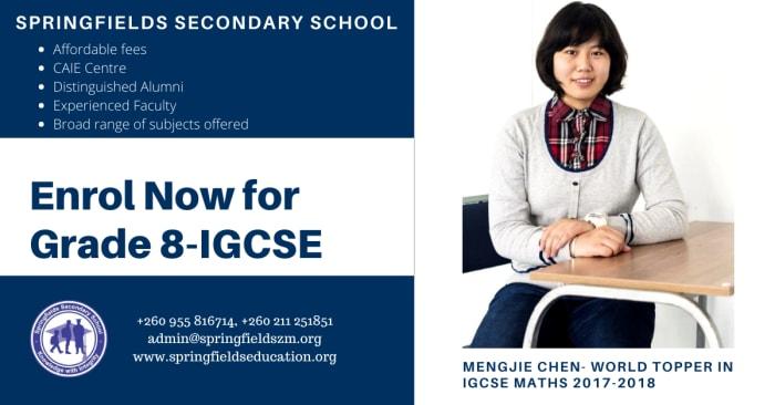 Enrol now for Grade 8 - IGCSE