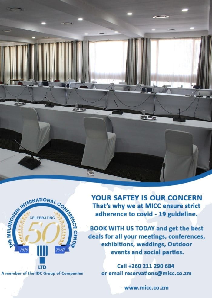 Book Mulungushi International for all your meetings, conferences, exhibitions and weddings