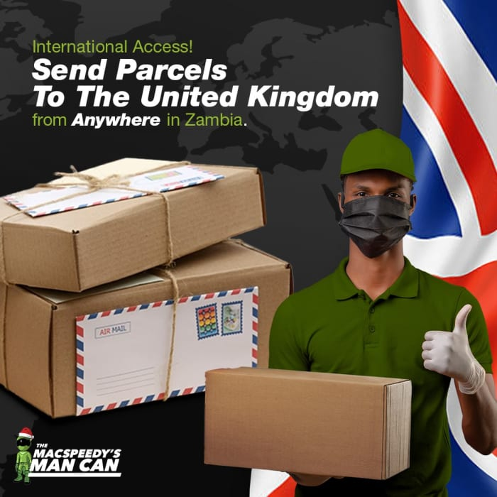 Send parcels to the United Kingdom from anywhere in Zambia