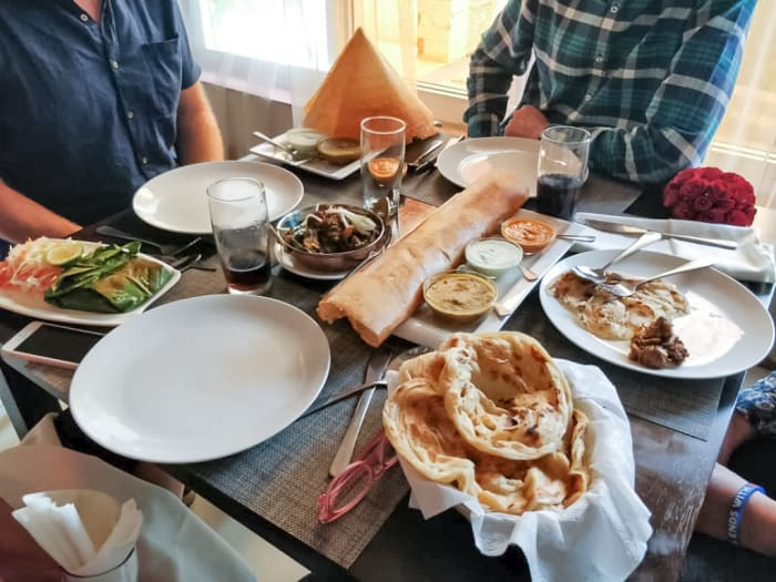 Indian, Indo-Chinese and Zambian cuisine