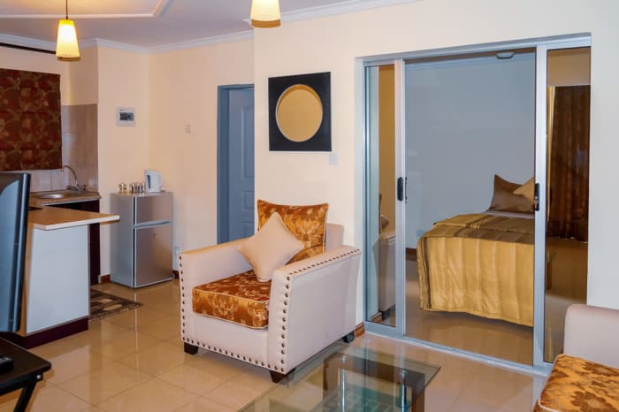 Self catering apartments with maid services provided