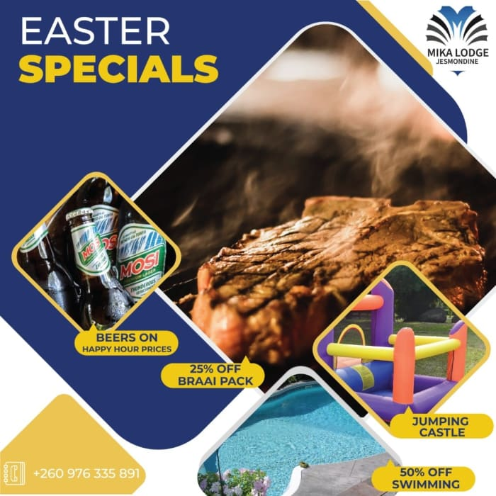 Easter specials at Mika Lodge Jesmondine