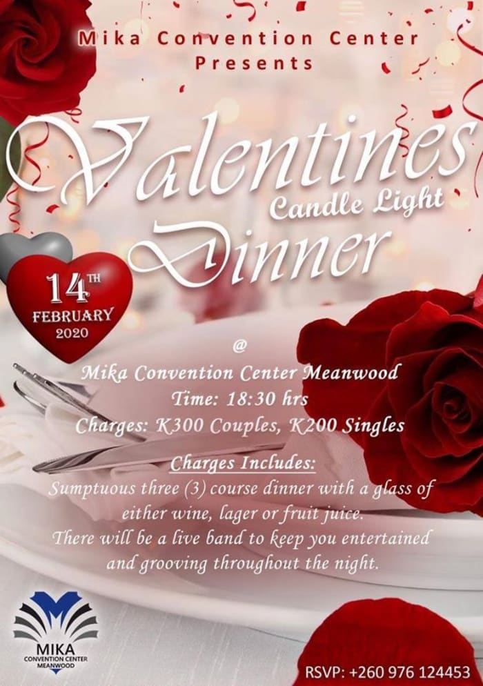 Valentine's candlelight dinner with live band