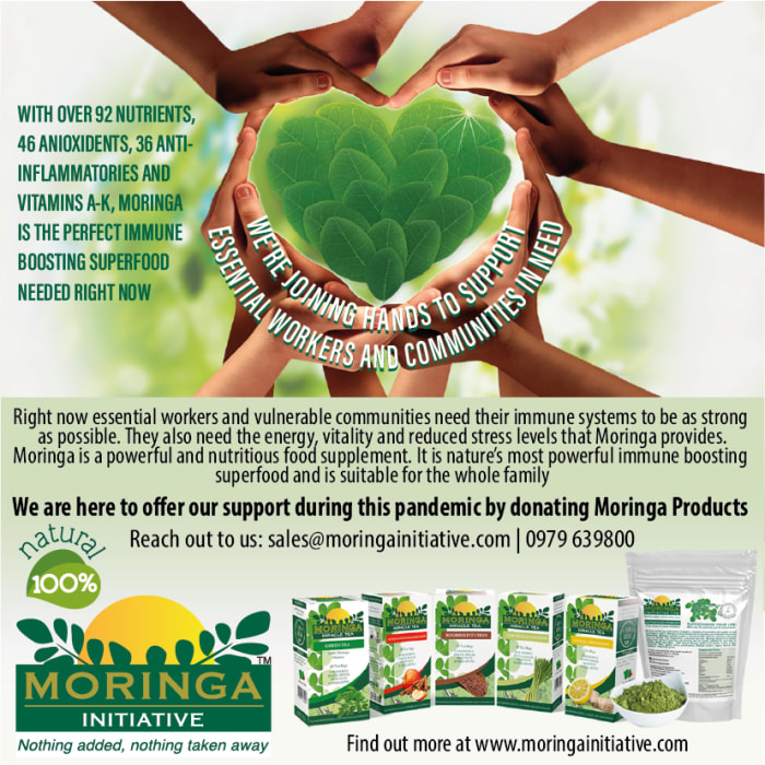 Moringa offers support during this pandemic by donating Moringa products