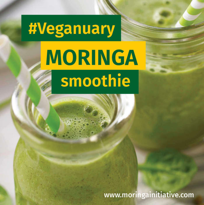 Taking part in Veganuary? try this moringa smoothie recipe
