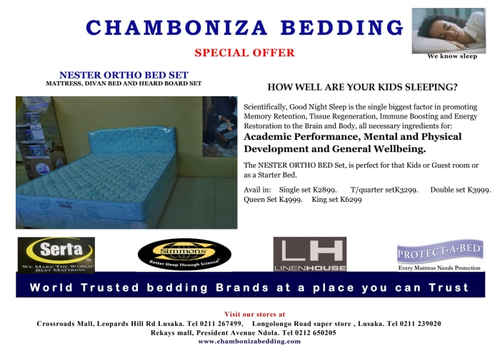 Special offer on Nester Ortho bed set