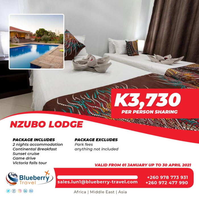 Nzubo Lodge package - 2 nights stay