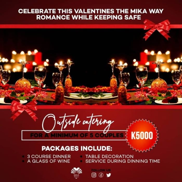 Valentine's day outside catering special
